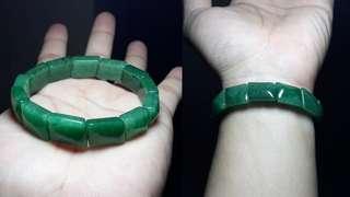 500 PESOS OFF! Green Aventurine Bangle-Bracelet