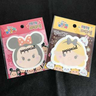 Disney Tsum Tsum Alice Post It Pad Minnie Mouse