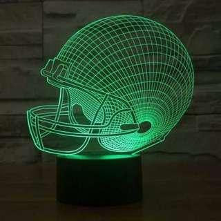 Lampu Hias LED 3D Helm Rugby