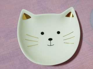 Porcelain Cat Dish