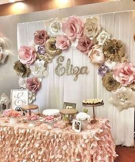Event planner - Decoration, Dessert, Cards, banners