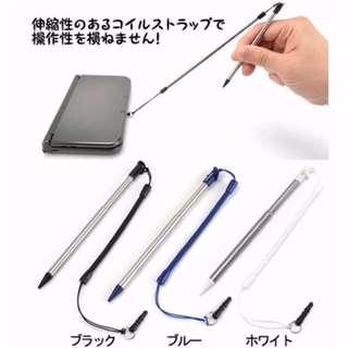 New Nintendo 3DS XL Metal Extendable stylus pen