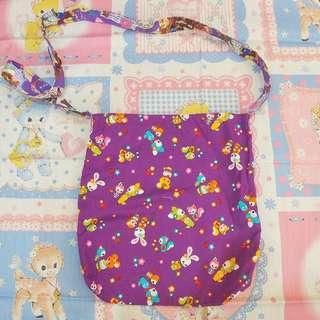 日本手作昭和復古小動物布袋tote bag handmade