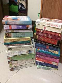 Preloved mostly historical romance books