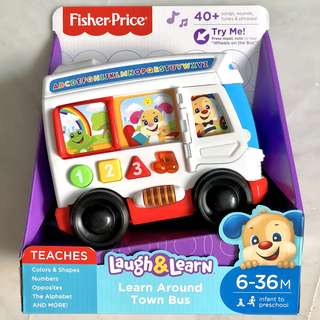 (In-Stock) Fisher-Price Laugh & Learn Learn Around Town Bus (Brand New)
