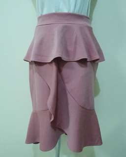 Pink Raffled Skirt