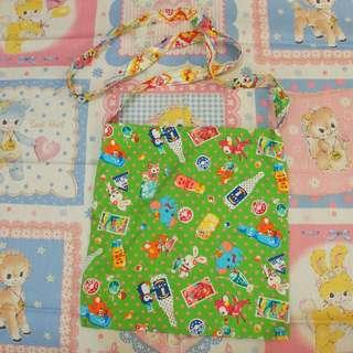 日本手作昭和復古小動物布袋tote bag handmade點婆零食