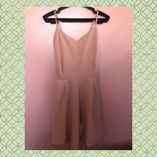 Nude Pink Cullotes Style Romper