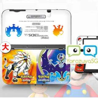 Pokemon Sun and Moon Decal Skin for New Nintendo 3DS XL