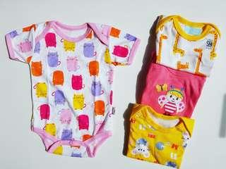 ⭐Libby - 4 Pcs Newborn baby onesie rompers premium soft cotton quality