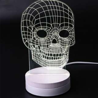 Lampu Hias LED 3D Tengkorak