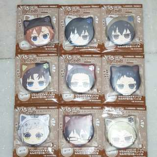 🚚 [New Arrivals] Bungo Stray Dogs Kemomimi Can Badge Vol. 1 9Pack Box