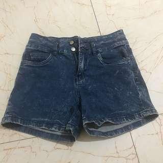Classic high rise imported denim shorts high waist