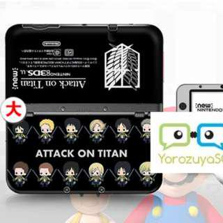 Shingeki No Kyojin [Attack on Titan] Decal Skin for New Nintendo 3DS XL