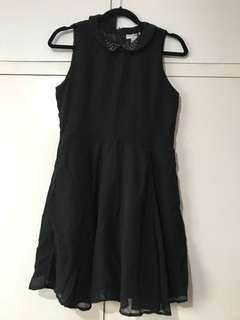 NEW COTTON ON Black Skater Dress with Collar
