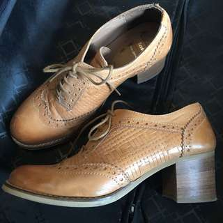 Italy genuine leather shoes