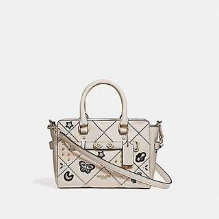MINI BLAKE CARRYALL WITH SOUVENIR EMBROIDERY PATCHWORK