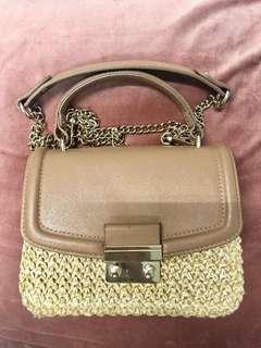 H&M wooven shoulder bag