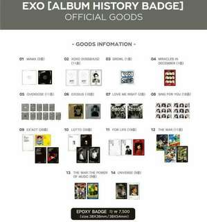 [PREORDER] Exo Album History Goods Official