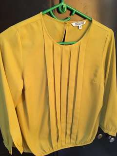 Debenhams yellow top