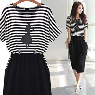 Stripes Casual Dress