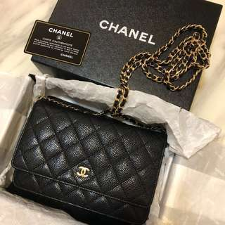 Chanel Wallet On Chain (Caviar WOC)