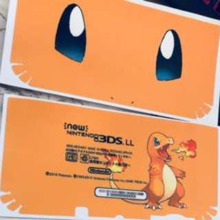 Charmander pokemon Decal skin for New Nintendo 3DS XL
