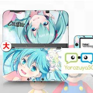 Hatsune Miku Vocaloid Decal Skin for New Nintendo 3DS XL