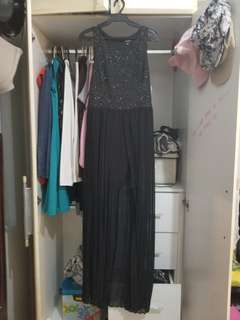 Sparkly Black Evening Dress