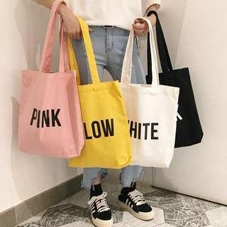 Korean Colour Canvas Bag