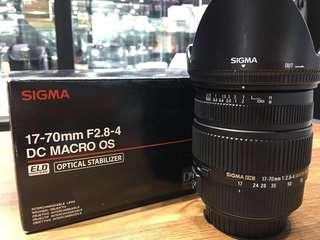 🚚 曙光數位 SIGMA 17-70mm F2.8-4 for Canon