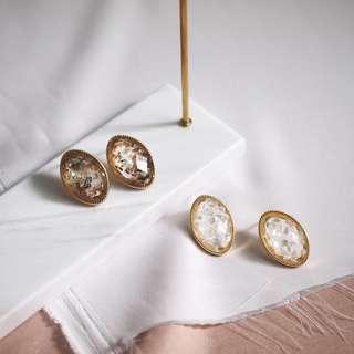 Vintage inspired jewel stone earrings