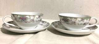2 Set Japan Teacup & Saucer