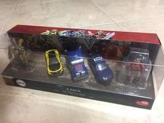 Transformers The last knight metal die-cast 5 piece pack - Optimus prime, bumblebee, barricade