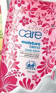 AVON CARE MOISTURE BLEND TROPICAL BLOOMS LIMITED EDITION HAND & BODY LOTION 750 ML