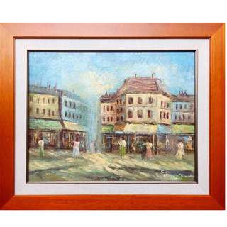 """'Old City"""" Oil Painting"""