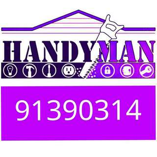 HANDYMAN handyman drilling installation home repairs fixing mounting TV bracket shelving blinds door hinges assemble furniture fixtures removal