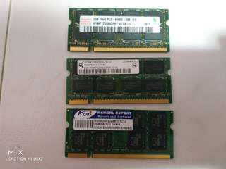 Various Brand DDR2 rams