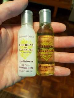 Crabtree & Evelyn travel size soap and shampoo