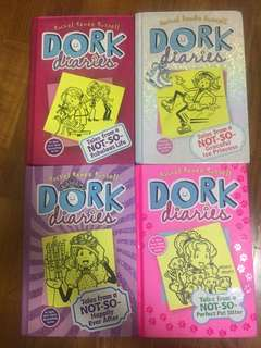 Dork Diaries Books (1,4,8,10)