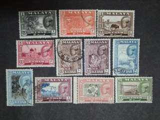 Malaya 1957 Kedah Sultan Abdul Hamid Halimshah Short Of 8c - 11v Used & MNH Stamps