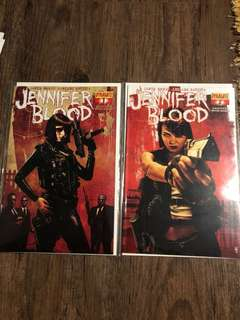 Jennifer Blood #1 & #2 (first printing)