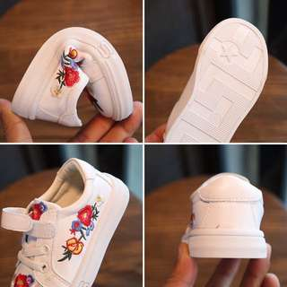 Rose Embroidery Sneakers shoes Velcro
