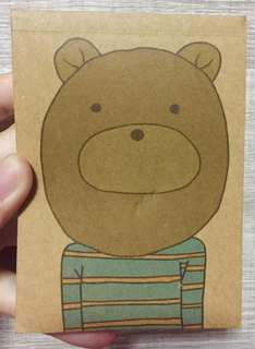 Bear colour notepad