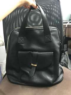 2 ways backpack black