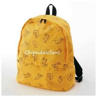 日本直送 Disney Chip n Dale 鋼牙大鼻旅行用收納式背囊