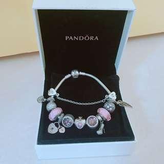 Pandora Bracelet 連12粒charm #2bdayship