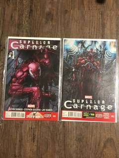 Superior Carnage #1 & #2 (first printing)