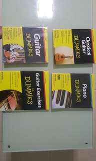Dummies guide for guitar/guitar excercises/classical guitar/piano