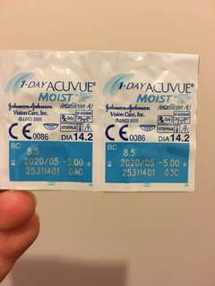 1-Day Acuvue Moist -5.00x20pcs